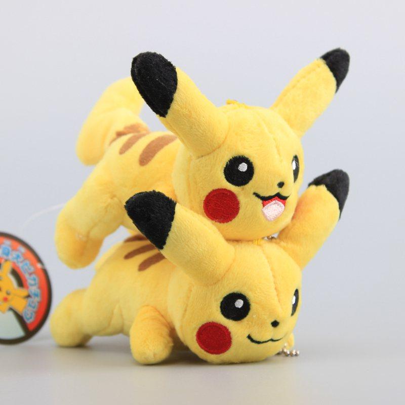 [해외]Anime 2 Styles Pikachu 거짓말 제스처 봉제 펜던트 열쇠 고리 귀여운 미니 인형 인형 11 CM/Anime 2 Styles  Pikachu Lying Gesture Plush PendantKeychain Cute Mini Stuffed Dolls