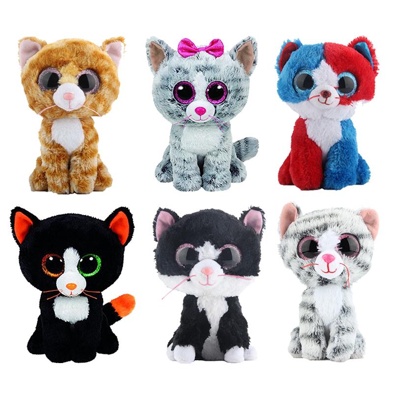 [해외]Elsadou Ty Beanie Boos 인형 & amp; 봉제 동물 검은 고양이 인형 완구 어린이 선물/Elsadou Ty Beanie Boos Stuffed & Plush Animals Black Cat Doll Toys for Children