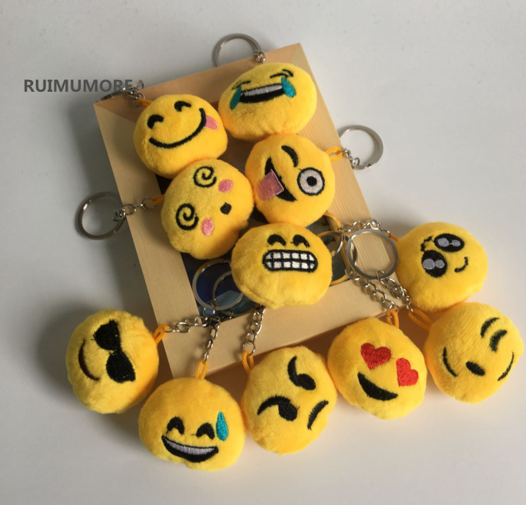 [해외]12pcs / lot 리틀 미니 4CM 가장 작은 믹스 Emojis 플러시 장난감 인형, 선물 열쇠 고리 체인 봉제 인형 장난감에 대한 박제 장난감/12pcs/lot Little Mini 4CM smallest mix Emojis Plush toys Doll ,