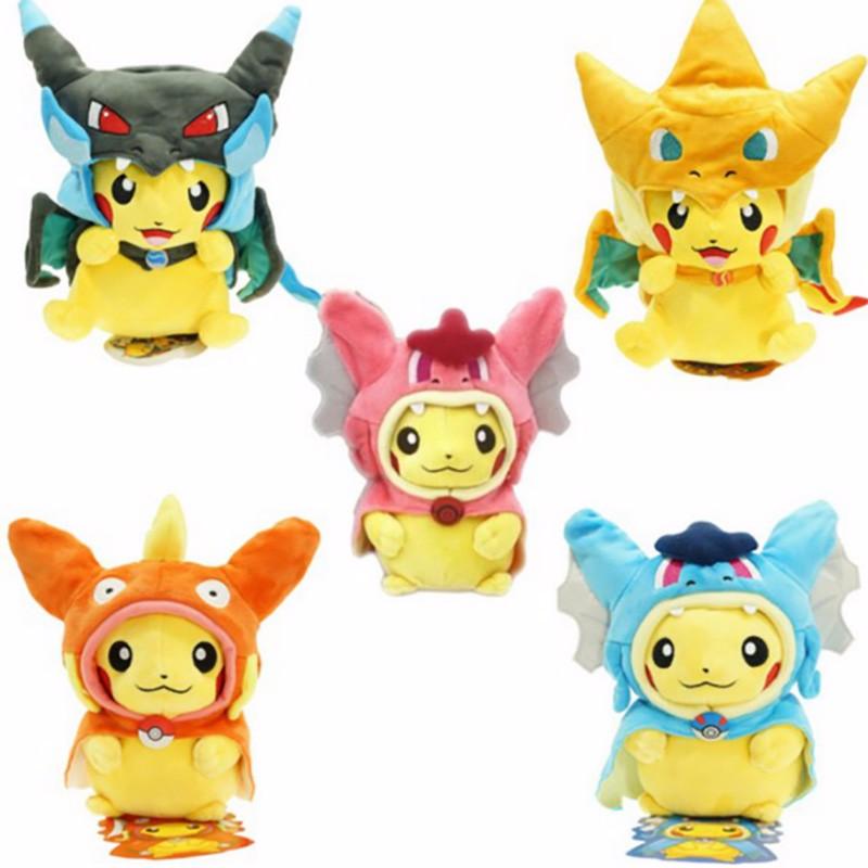 [해외]7Styles 20cm 종류 선택 아기 인형 장난감 피카추 코스프레 메가 Charizard gyrados 박제 동물 인형 어린이 장난감 kids As 선물/7Styles 20cm Kinds Option Baby Plush toys Pikachu Cosplay M