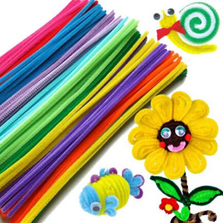 [해외]100pcs / 몬테소리 교육 봉제 인형 & amp; 실 리 스틱 어린이 & s의 장난감 손수 아트 DIY 재료 및 공예 재미있는 게임/100pcs/set Montessori educational Plush Stick & Shilly-Sti
