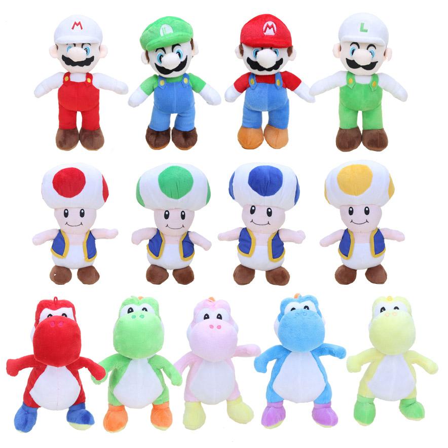[해외]슈퍼 마리오 브라더스 10 && 25CM 마리오 루이지 요시 버섯 두꺼비 봉제 인형 인형 인형/Super Mario Bros 10&& 25CM Mario Luigi Yoshi Mushroom Toad Plush Toy Dolls Stuffed Do
