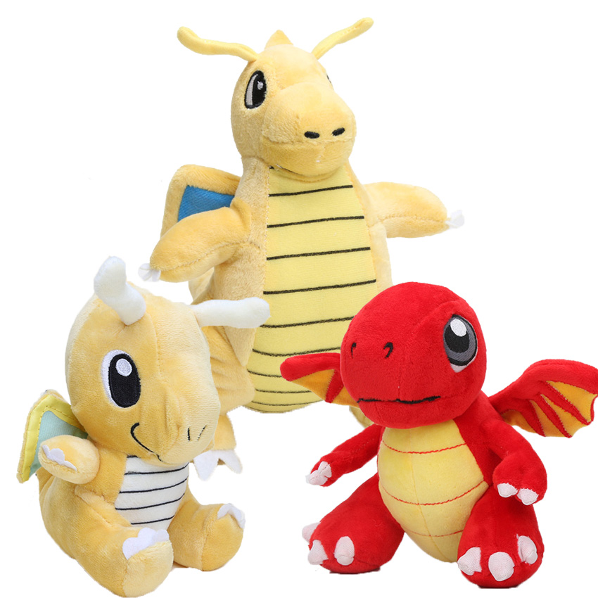 [해외]16-22cm 포켓 인형 봉제 인형 완구 동물 장난감 Dragonite 플러시 장난감 Dragonvale 화재 레드 드래곤 인형/16-22cm Pocket doll plush toys Stuffed Animal Toy Dragonite Plush Toys Dra