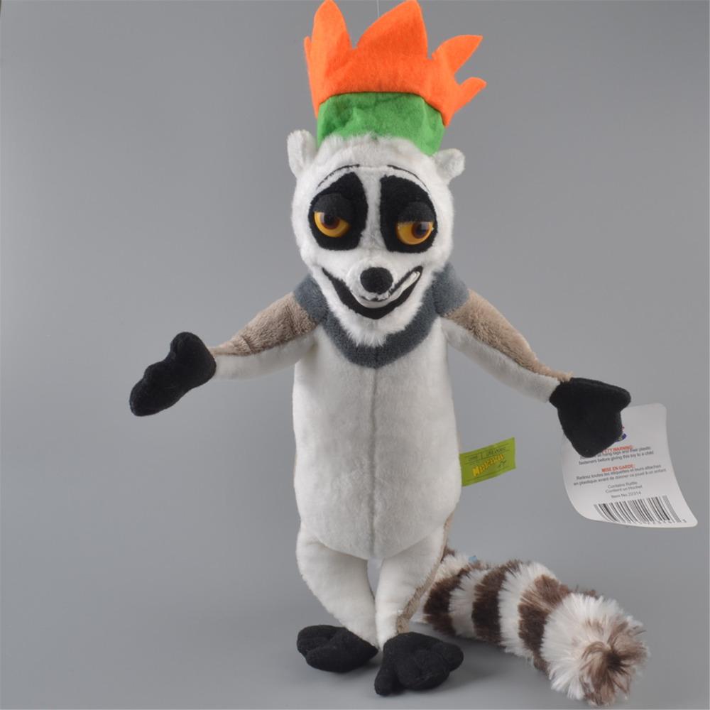 [해외]35cm 줄리앙 킹 원숭이 인형 봉제 인형, 마다가스카르 베이비 키즈 인형 선물/35cm Julien King Monkey Stuffed Plush Toy, Madagascar Baby Kids Doll Gift