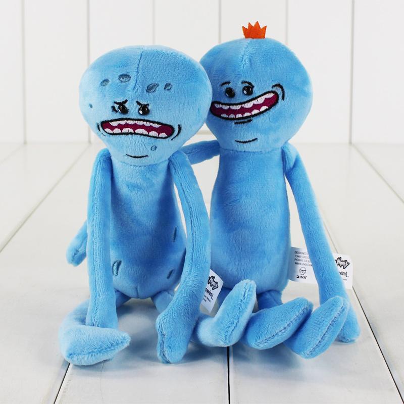 [해외]2pcs / lot 다른 스타일 25cm 릭과 모티 행복한 슬픈 Meeseeks 박제 봉제 완구 어린이 크리스마스 선물/2pcs/lot Different Styles 25cm Rick and Morty Happy Sad Meeseeks Stuffed Plush