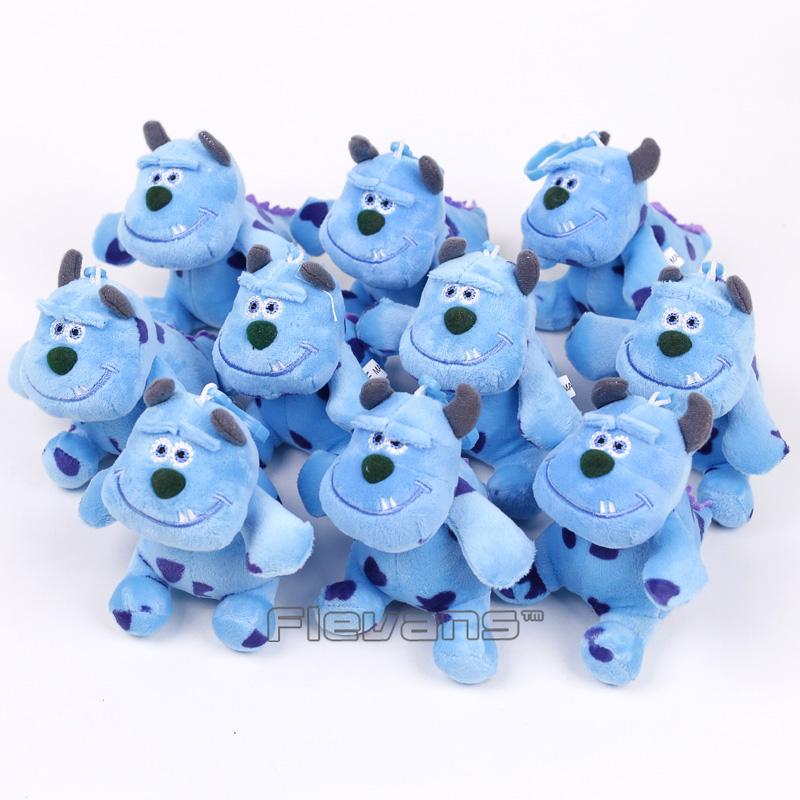 [해외]만화 영화 괴물 Inc 설리반 미니 봉제 펜던트 부드러운 인형 완구 인형 11cm 10pcs / lot/Cartoon Movie Monsters Inc Sullivan Mini Plush Pendants Soft Stuffed Toys Dolls 11cm 10p