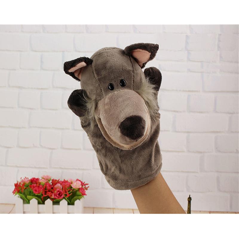 [해외]핸드 인형 늑대 봉제 벨벳 동물의 손 인형 애들을선물 학습 학습 장난감 24 * 24CM/New Arrival Hand Puppets Wolf  Plush Velour Animals Hand Puppets for Kid Child Gifts Learning Ai