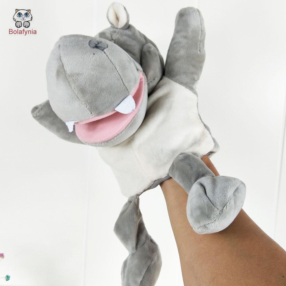 [해외]BOLAFYNIA 어린이 손 인형극 장난감 회색 큰 뚱보 아기 아이 플러시 인형 장난감 크리스마스 생일 선물/BOLAFYNIA Children Hand Puppet Toys Gray big hippo baby kid plush Stuffed Toy for Chr