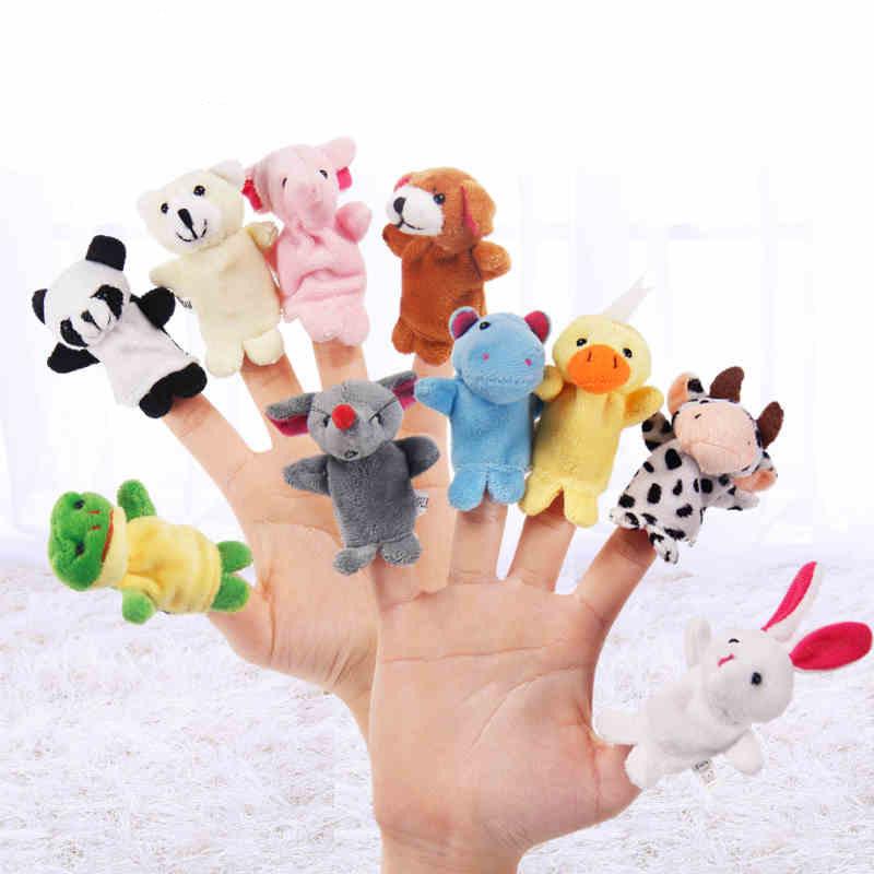 [해외]10 PC / lot 유아 유아 소녀와 소년 플러시 아기 장난감 슬리핑 StoryAnimal 가족 손가락 인형에 대 한 미니 액세서리/10 Pcs/lot Mini  Accessories For Infant Toddler Girl and Boy Plush Baby