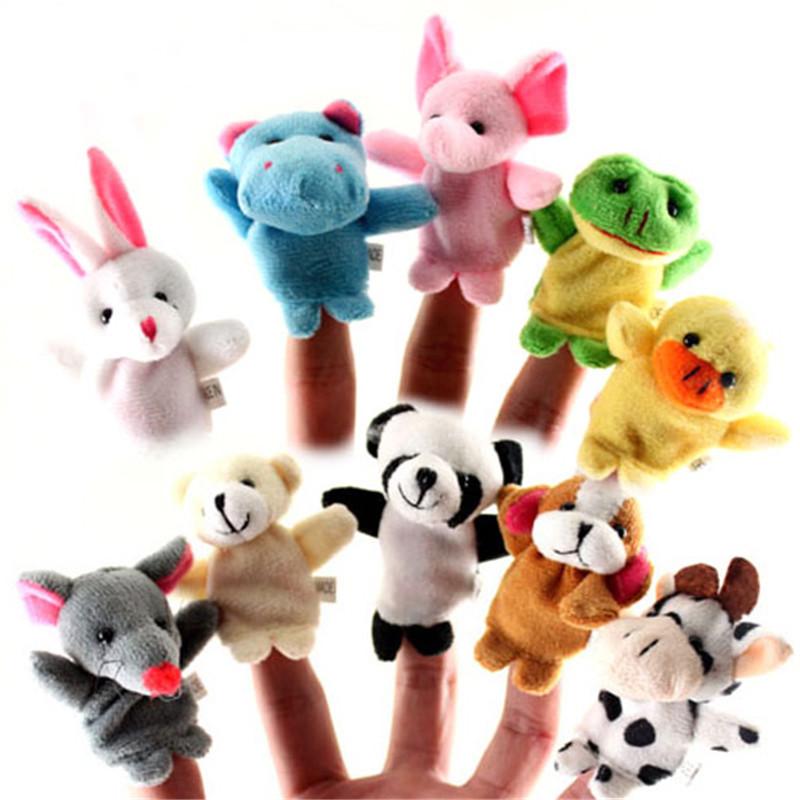 [해외]10pcs / lot 동물 만화 손가락 인형 플러시 장난감 아기 천으로 교육 손 토이 스토리 손가락 인형/10pcs/lot Animal Cartoon Finger Puppet Plush Toys Baby Cloth Educational Hand Toy Story