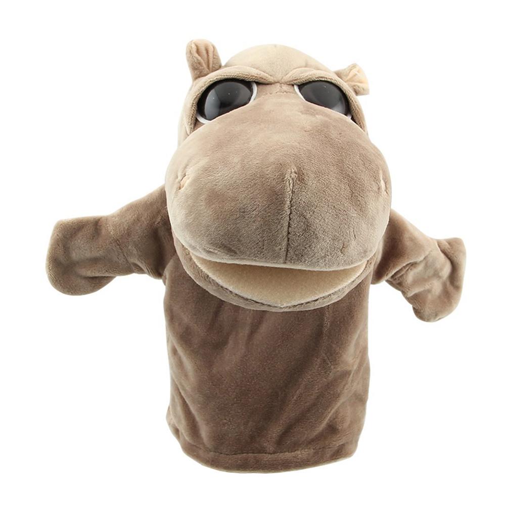 [해외]MACH 귀여운 인형 벨벳 동물 손 인형 세련된 디자인 아이 학습 학습 장난감 (마) 그레이/MACH Cute Plush Velour Animals Hand Puppets Chic Designs Kid Child Learning Aid Toy (Hippo) Gr