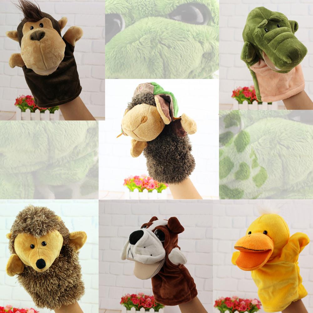 [해외]동물의 마네킹 장갑 인형 크리스마스 손 인형극 인형 장난감 봉제 이야기 이야기 주전자 학습 보조 재미있는 아이 선물/Animal marionette glove puppets christmas hand puppet theater doll toys plush sto