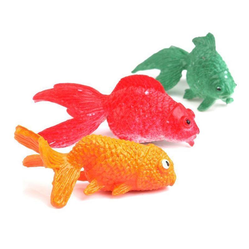 [해외]작은 금붕어 플라스틱 해양 생물 모델 Pvc 솔리드 작은 금붕어 조기 교육 완구의 12pcs / set 시뮬레이션 시뮬레이션 WJ1579/12pcs/set Simulation Of Small Goldfish Plastic Marine Biological Mode