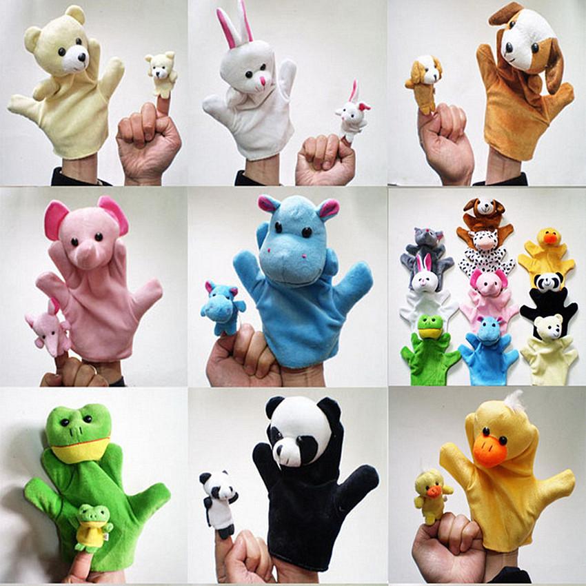 [해외]5PCS 아기 어린이 인형 인형 손 인형 팬더 개 곰 토끼 고양이 귀여운 동물 가족 인형 인형 사랑스러운 동물 인형 핸드 인형/5PCS Baby Kids Child Doll Hand Puppets Panda dog Bear rabbit cat Cute anima