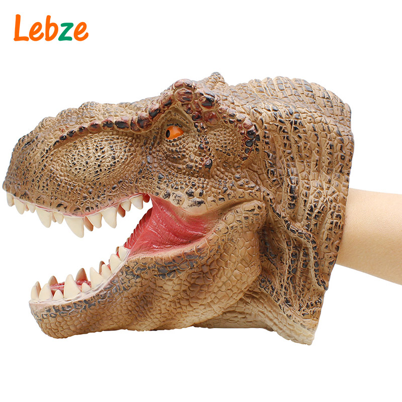 [해외]이야기를공룡 손 인형 Tyrannosaurus Head Hand Puppet 어린이를부드러운 무독성 그림 장난감 현실적인 디노 모델 선물/Dinosaur Hand Puppet For Stories Tyrannosaurus Head Hand Puppet Soft