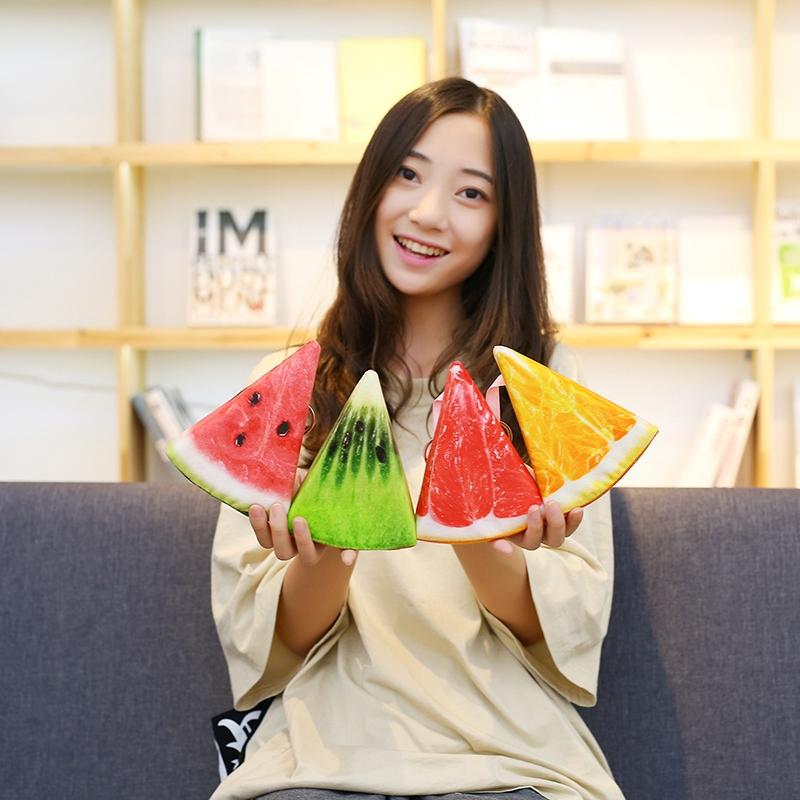 [해외]1pcs 16cm 시뮬레이션 Kawaii 과일 플러시 펜던트 박제 수박 플러시 장난감 패션 가방 펜던트 열쇠 고리 크리 에이 티브 선물/1pc 16cm Simulation Kawaii Fruit Plush Pendant Stuffed Kids Watermelon