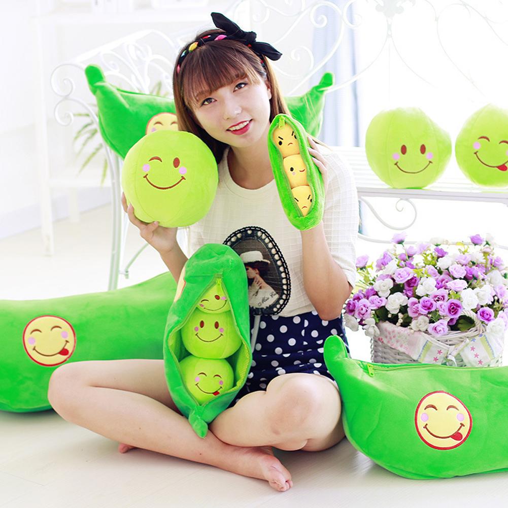 [해외]?25Cm Kawaii Girls Toys 귀여운 완두콩 인형 공장 인형 1 개 어린이 어린이 인형 베이비 인형 장난감 슈퍼 소프트 인형 & amp; 봉제 동물/ 25Cm Kawaii Girls Toys Cute Pea Stuffed Plant Doll