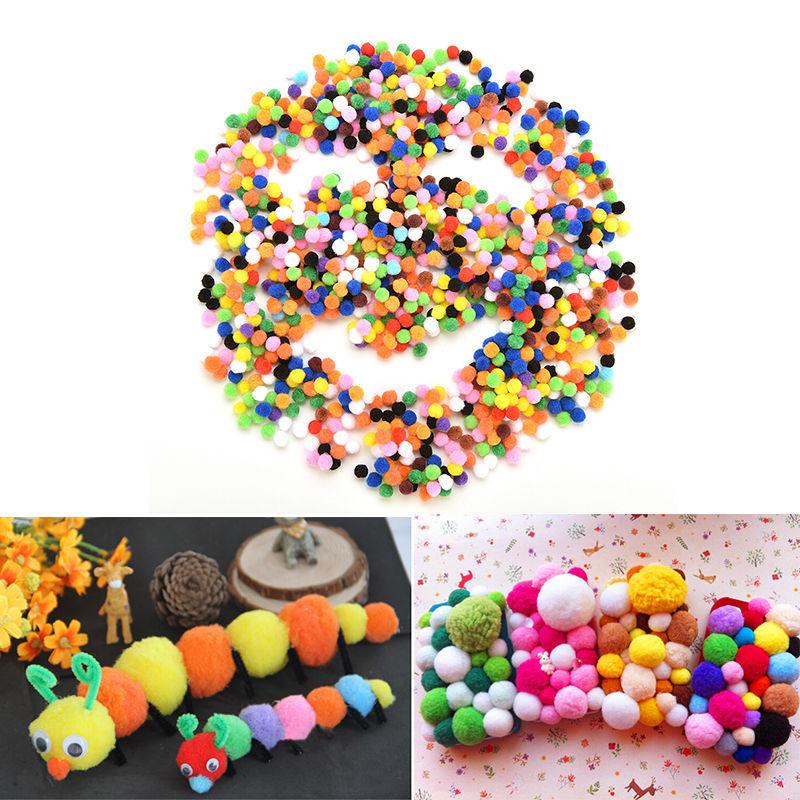 [해외]2018 혼합 색상 새 Sttuffed Toys 1000 개 / lot 모듬 된 10 mm 부드러운 푹신한 Pom Poms Pompoms/2018 Mixed Color New Sttuffed Toys 1000 Pcs /lot Assorted 10 mm Soft