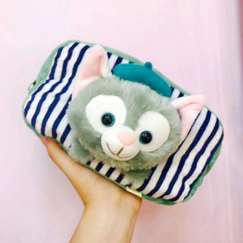 [해외]새 Duffy 베어 Gelatoni 일본 애니메이션 플러시 메신저 가방 귀여운 작은 토니 머그 페인터 고양이 플러시 가방 어린이를여자 선물/New Duffy Bear Gelatoni Japanese Anime plush Messenger bag cute litt