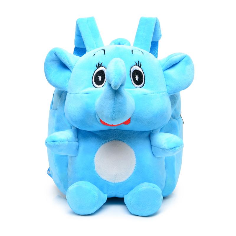 [해외]새 귀여운 만화 코끼리 어린이 봉 제 배낭 장난감 미니 학교 가방 어린이 & 유치원 소년 소녀 아기 학생 가방/New Cute Cartoon Elephant Kids Plush Backpack Toy Mini School Bag Children&s Gif