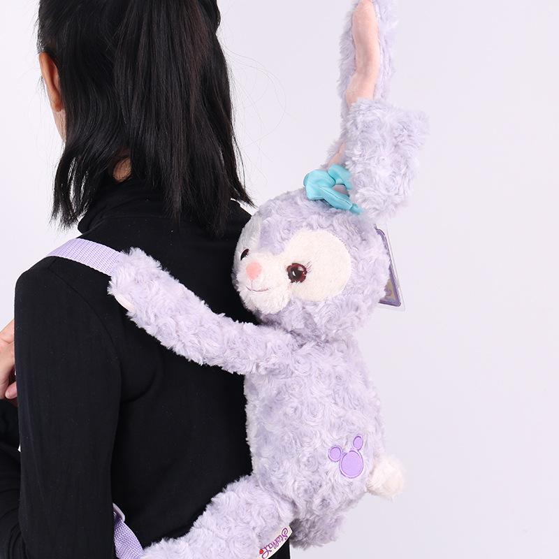 [해외]더피 베어 새 친구 StellaLou 토끼 플러시 배낭 귀여운 긴 귀 Stella 루 가방 부드러운 인형 동물 어린이 학교 가방/Duffy Bear New Friend StellaLou Rabbit Plush Backpack Cute Long Ear Stella