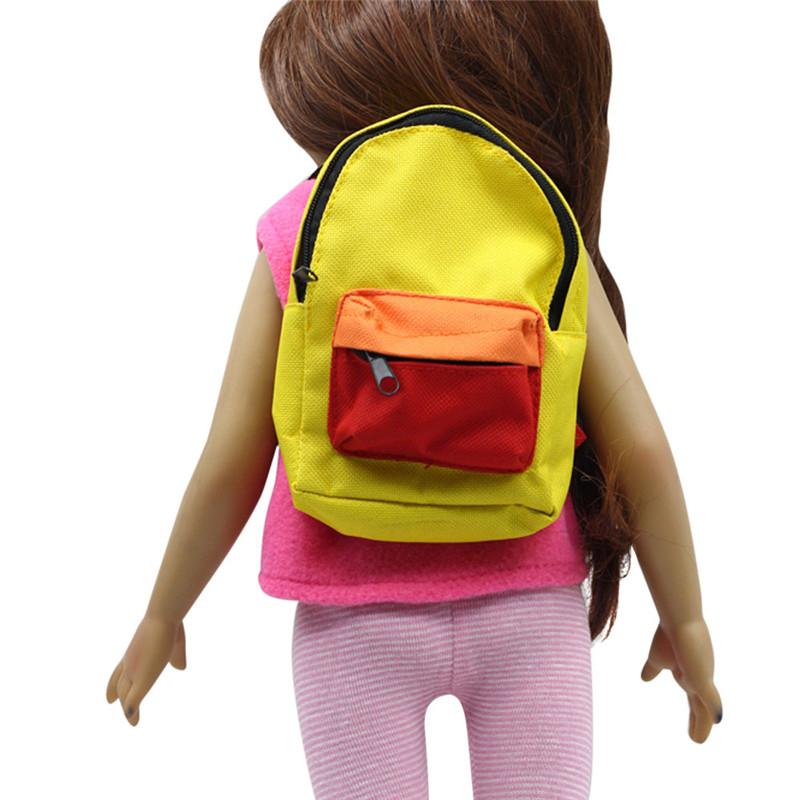 [해외]2018 패션 귀여운 더블 스트랩 배낭 Schoolbag 18 인치 우리 세대 미국 소녀 인형에 대 한/2018 Fashion Cute Double Straps Backpack Schoolbag For 18 inch Our Generation American G