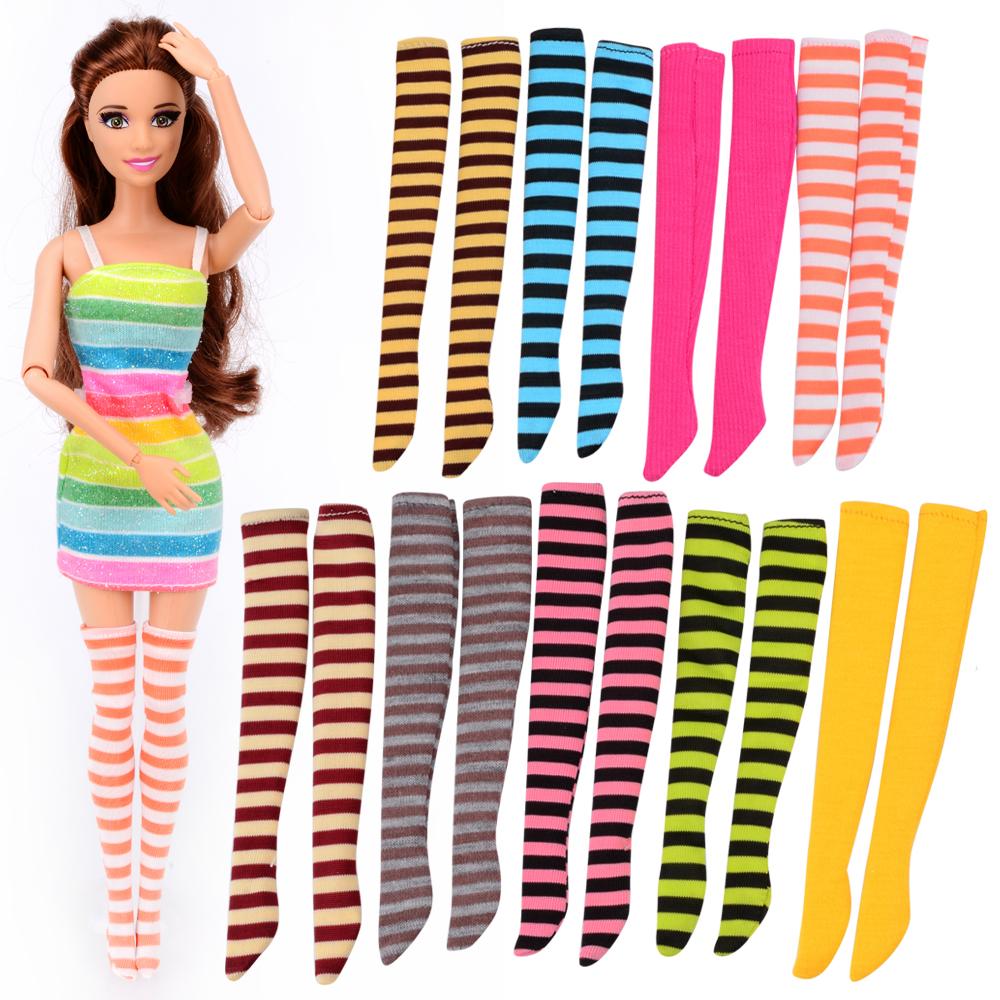 [해외]3 PC 용 랜덤 양말 / 스타킹 액세서리 바비 인형 12 공동 이동 장난감 생일 선물/3 Pcs Random Socks/Stockings Accessories for Barbie Doll 12 Joint Moving Toy Birthday Gift for Gi