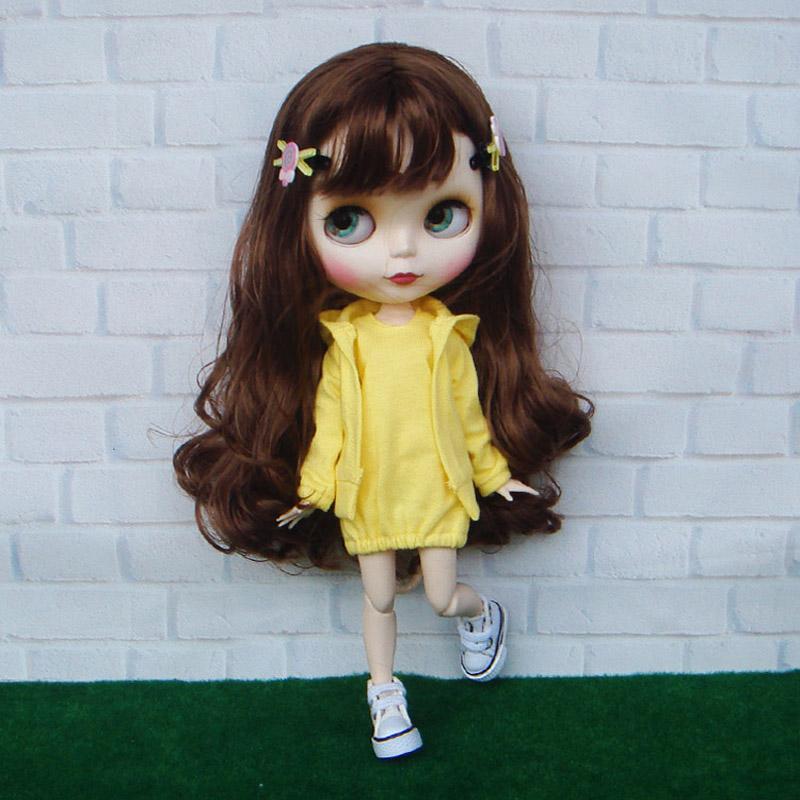 [해외]Blyth 인형 의류 액세서리 캐주얼 스포츠 코트 및 복장 세트 1/1 Set Casual Sport Coat and Dress for Blyth Doll Clothes Accessories