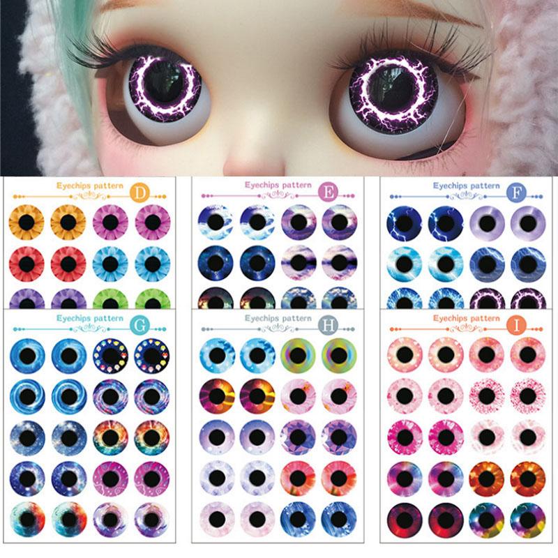 [해외]1/6 ICY Blyth Doll Eyes를10 쌍의 Blyth Doll Eye 칩 패턴 DIY Style AI/10 Pair Blyth Doll Eye Chips Pattern for 1/6 ICY Blyth Doll Eyes DIY Style AI