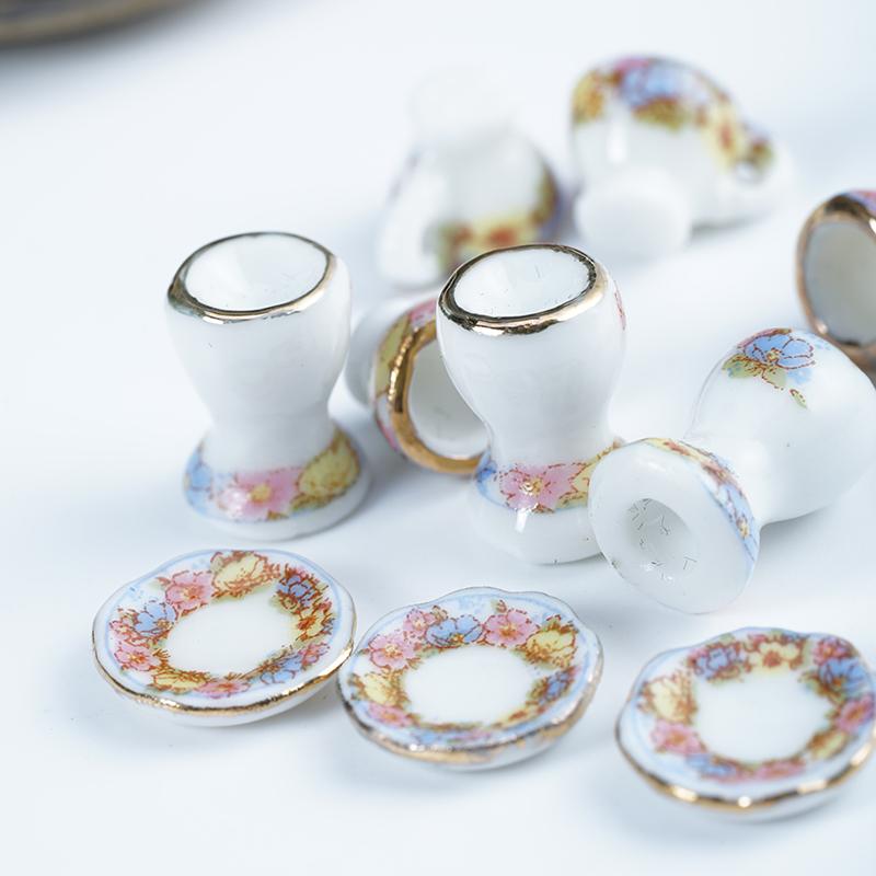 [해외]미니 세라믹 식기 인형 집 미니어처 1시 12 분 액세서리 인형 집 가구 DIY 카사 미니 꽃밥 칼 세트 ingbaby/Mini Ceramic Tableware Dollhouse Miniatures 1:12 Accessories Doll House Furnitu