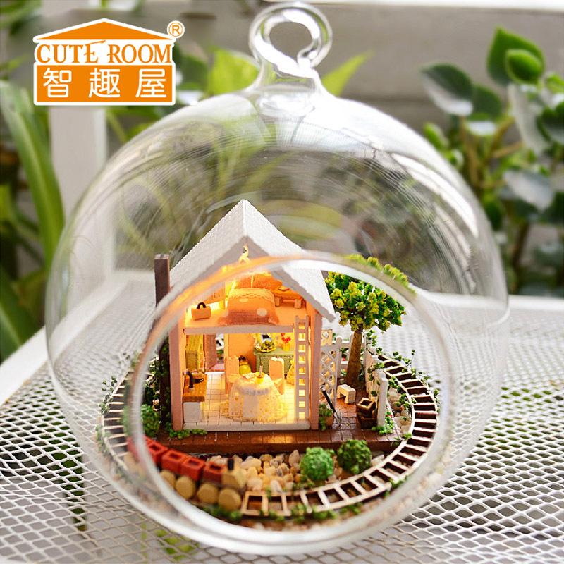 [해외]귀여운 방 DIY 하우스 Puppenhaus Brithday 어린이를미니어처 가구 하우스 완구 목조 주택 완구 - 판도라 매직 가든/Cute Room Diy House for Puppenhaus Brithday Miniature Furniture House To
