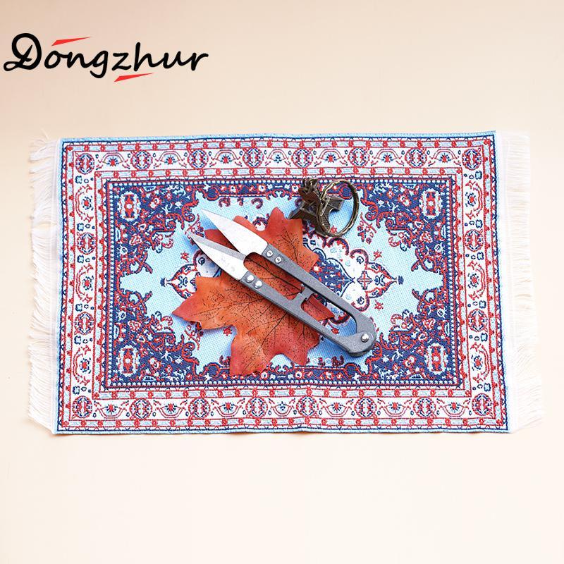 [해외]스카이 블루 컬러 카펫 인형 집 Miniatures 1:12 액세서리 15 * 25cm 중형 장난감 카펫 인형 집 가구 ingbaby/Sky Blue Colourful Carpet Dollhouse Miniatures 1:12 Accessories 15*25cm