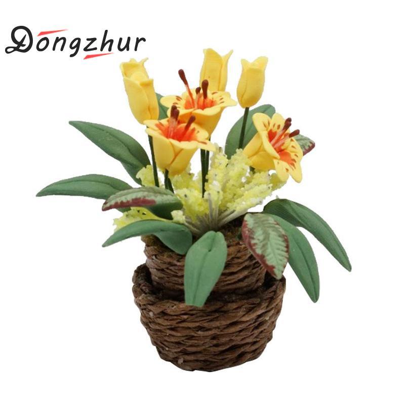 [해외]Dongzhur 등나무 꽃병 인형 집 Miniatures 1:12 액세서리 소형 모델 액세서리 Morning Glory DIY 인형 집 가구/Dongzhur Rattan Flower Pots Dollhouse Miniatures 1:12 Accessories M