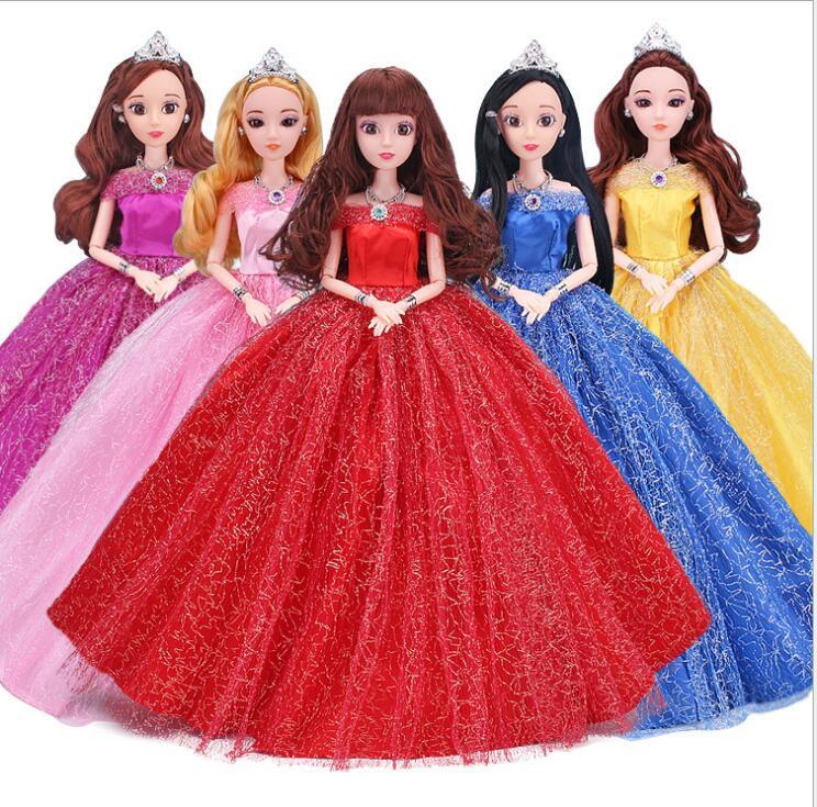 [해외]NK 한 pc 2017 공주 웨딩 드레스 귀족 파티 드레스 바비 인형 패션 디자인 의상 여성과 인형에 대한 최고의 선물/NK One Pcs 2017 Princess Wedding Dress Noble Party Gown For Barbie Doll Fashion