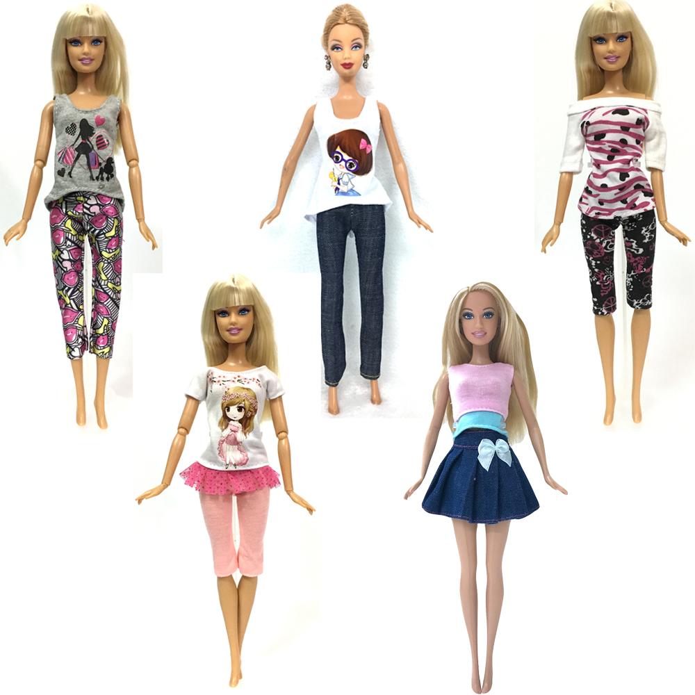 [해외]NK 5 개 수제 패션 의류 바비 인형 드레스 아기 소녀 생일 새해 선물/NK 5 Pcs Handmade fashion clothes For Barbie Doll dress baby girl birthday new year present for kids