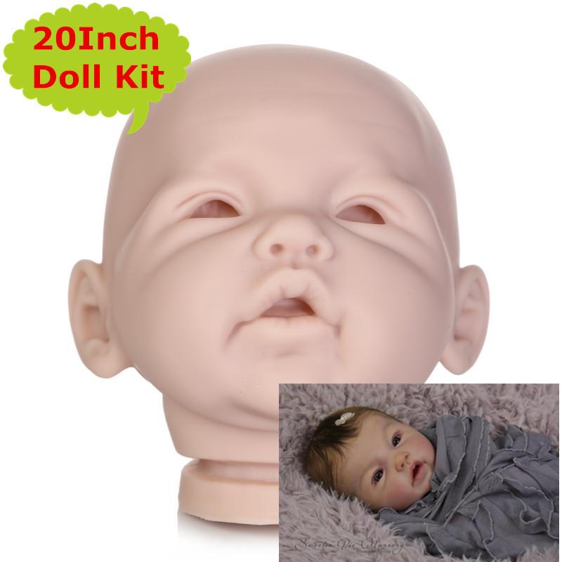 [해외]NPK 20inch 3 / 4 팔 및 전체 다리 실리콘 비닐 Reborn 인형 키트 인형 액세서리 아기 DIY Reborn Toys/NPK New Arrival 20Inch 3/4 Arms and Full Legs Silicone Vinyl Reborn Doll