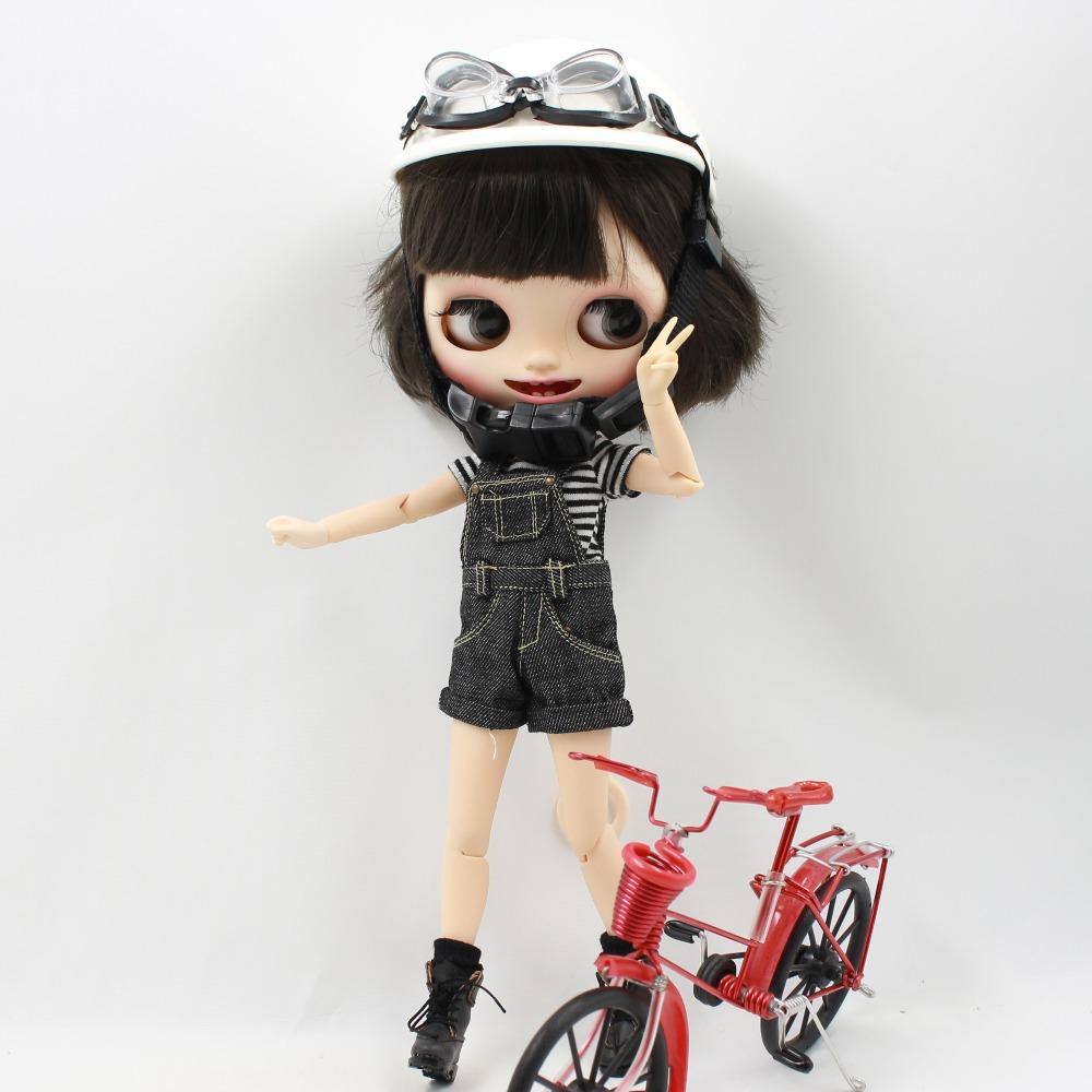 [해외]?헬멧 고글 blyth 인형 1/6 얼음 jecci 다섯 멋진 선물 장난감/ Helmet Goggles for blyth doll 1/6 icy jecci five cool gift toy