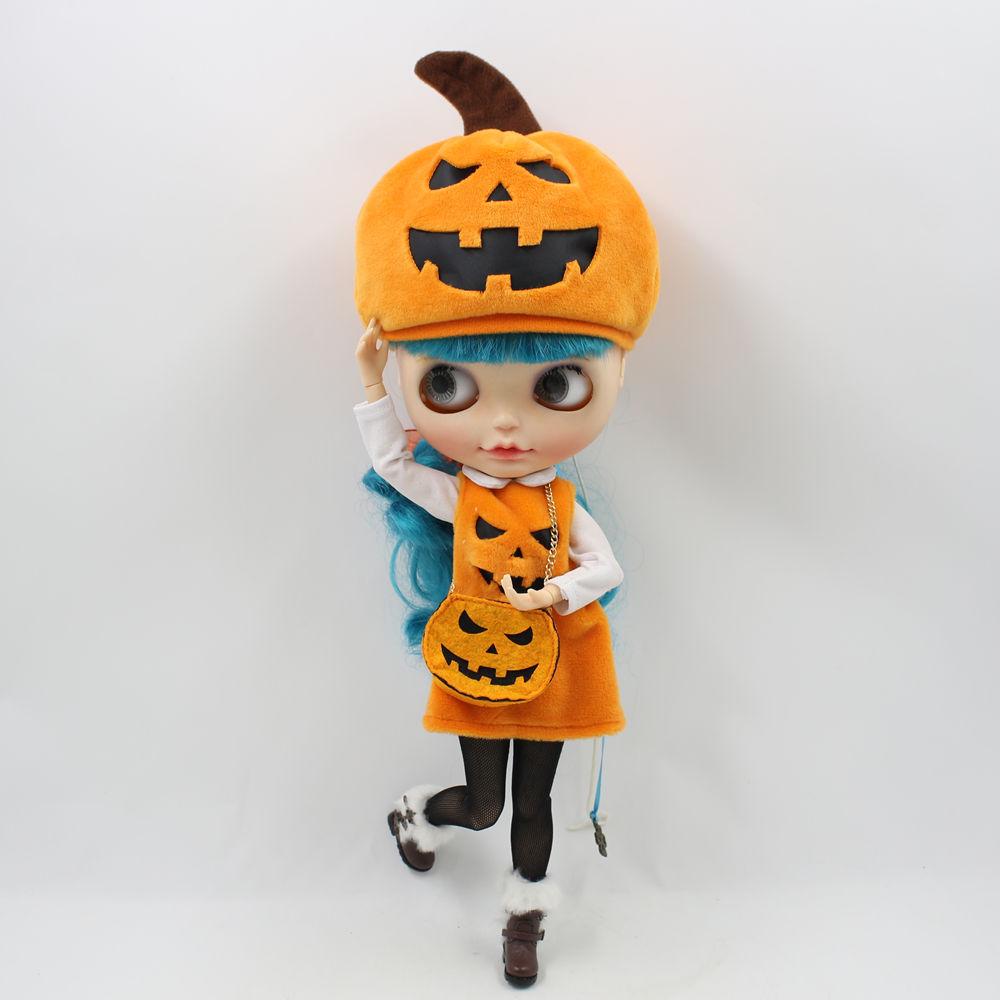 [해외]Blyth 인형 할로윈 Pumkin 옷 세트 따뜻하고 귀여운 옷 1/6 Joint doll/Blyth doll A set of Halloween Pumkin clothes comfortable warm and cute clothes for 1/6 Joint do