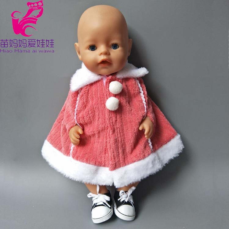 [해외]Zapf 아기 태어난 인형 겨울 모피 망토 코트 스포츠 용 재킷의 일종 의류 18 인치 인형 outwear에 맞게 여자 크리스마스 드레스 세트/Zapf Baby born dolls Winter Fur Cloak coat windbreaker Clothes als