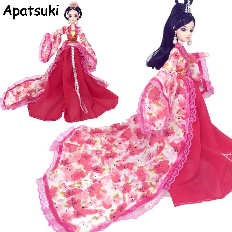 [해외]바비 인형 코스프레 드레스 1/6 BJD 인형에 대한 어 번체 고대 의상 옷 파티 드레스 이브닝 드레스/Cosplay Dress For Barbie Doll Traditional Chinese Ancient Beauty Costume Clothes Party D