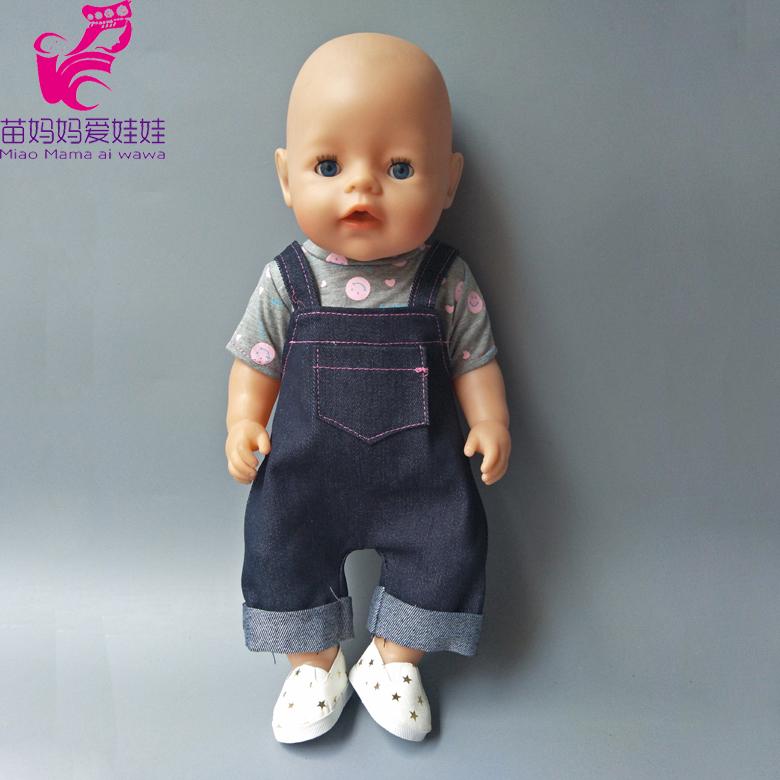 [해외]43cm 용 자켓 바지 신사복 스트랩 팬츠 세트 Baby New Born 베이비 인형 양복/Straps Pantsshirt set for 43cm Zapf Baby New Born baby Doll clothes suit