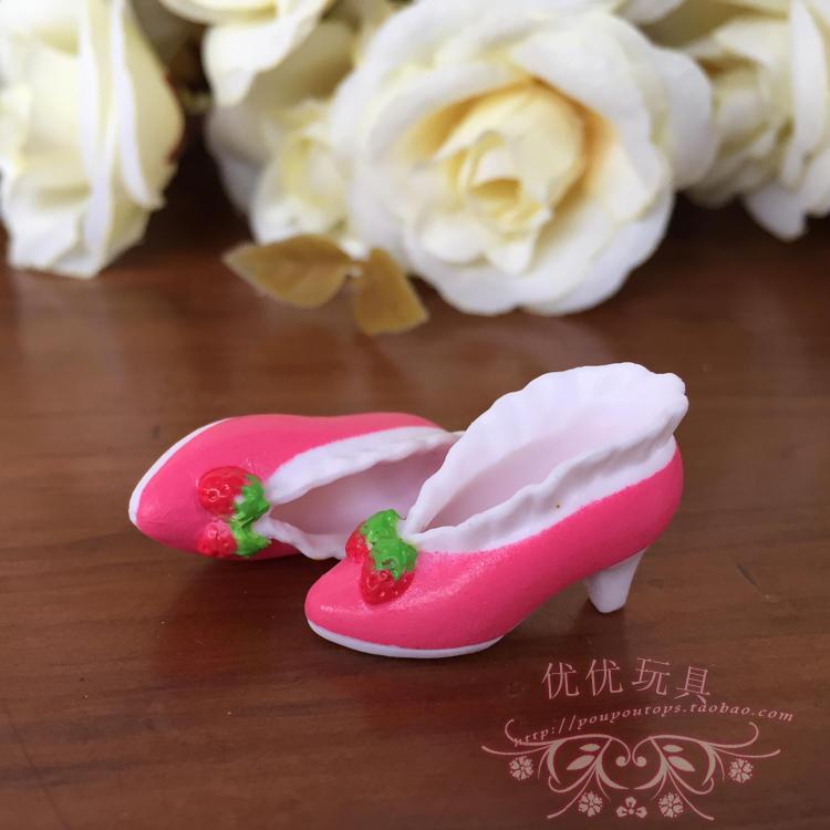 [해외]신품 도착 귀여운 미니 1/6 오리지널 핑크 딸기 슈즈 Blyth Momoko Licca OB Azone blyth 인형 액세서리/New Arrival Cute Mini 1/6 Original Pink Strawberry shoes Doll Shoes for B