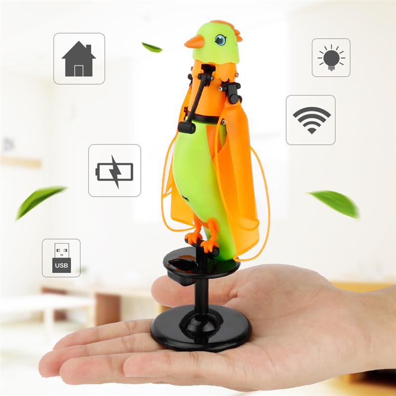 [해외]어린이 완구 유도 비행 앵무새 비행 완구 및 새소리 깜박이는 빛 노래 조류 비행 완구/Children&s Toys Induction Flying Parrot Flying ToysLights and Birdcall Flashing Light Singing Bird