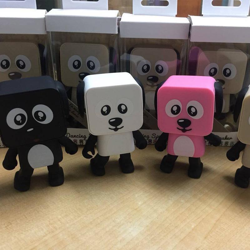 [해외]?귀여운 휴대용 스마트 춤 로봇 무선 블루투스 스피커 춤 로봇 음악 개/ Cute Portable Smart Dancing Robot Wireless Bluetooth Speaker Dancing Robot Music Dog