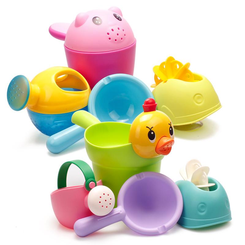 [해외]아기 목욕 장난감 귀여운 만화 인형 모델 부드러운 화장실 물 놀이 아이를장난감 아이들 선물 교육 장난감/baby bath toys Cute Cartoon dolls model soft Bathroom water play spraying Toy for kids c