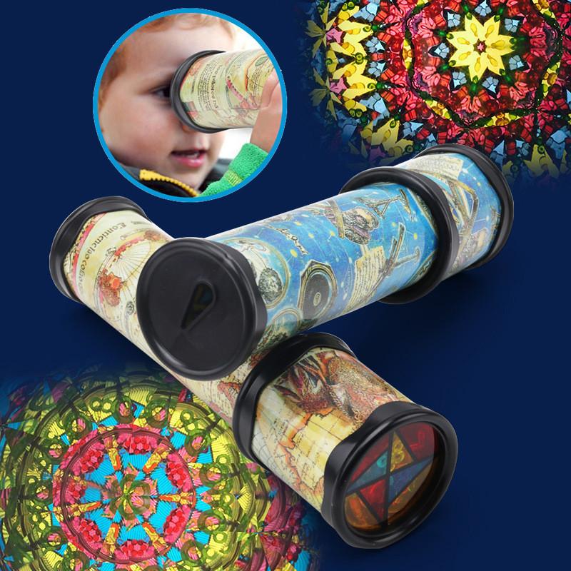 [해외]새로운 로타리와 인장 Artascope 3D 만화경 종이 카드 다채로운 세계 장난감 상호 작용 장난감 무작위 컬러/New Rotary and Tensile Artascope of Size 3D Kaleidoscope Paper Card  Colorful Worl