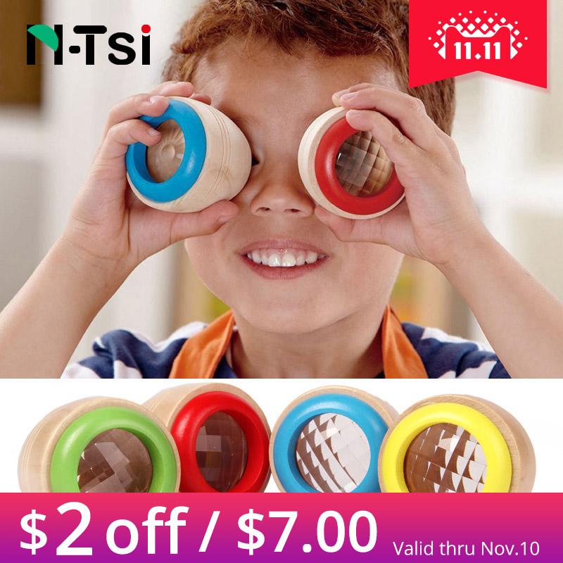 [해외]N-Tsi Magic Wooden Kaleidoscopes 재미있는 장난감 어린이를어린이 선물 미취학 프리즘 몬테소리 Early Educational Puzzle 1 piece/N-Tsi Magic Wooden Kaleidoscopes Fun Toys for C