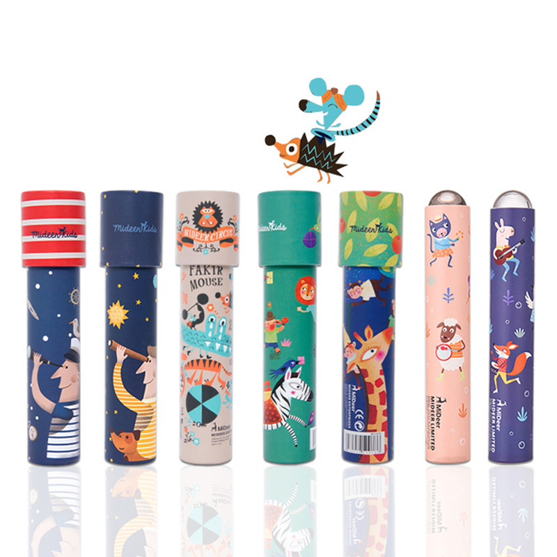 [해외]1pcs 대화식 장난감 상상력이 풍부한 만화 동물 3D 만화경 종이 카드 만화경 다채로운 세계 완구 ??아이 선물/1pcs Interactive Toys Imaginative Cartoon Animals 3D Kaleidoscope Paper Card Kalei