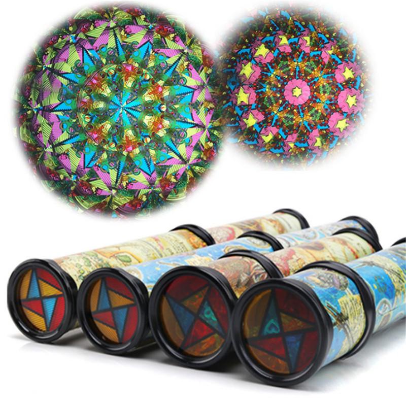 [해외]21cm 회전 조정 가능한 만화경 다채로운 세계 유치원 완구 스타일 무작위로 최고의 아이 선물 교육 완구 어린이를위한/21cm Rotating Adjustable Kaleidoscopes Colorful World Preschool Toys Style at Ra