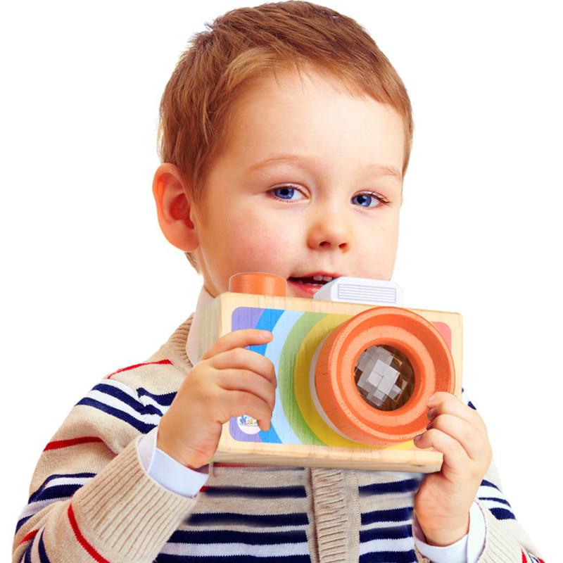 [해외]어린이 나무 장난감 카메라 만화경 교육 매직 만화경 아기 키즈 어린이 학습 장난감/Kids Wooden Toys Camera Kaleidoscope Educational Magic Kaleidoscope Baby Kid Children Learning Toy